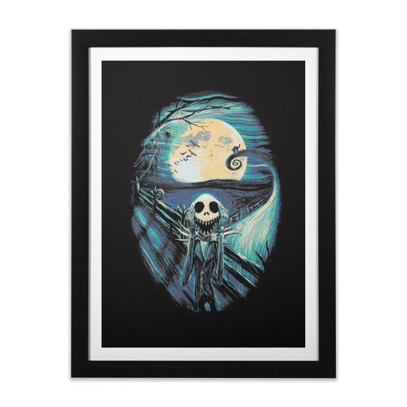 The Scream Before Christmas Home Framed Fine Art Print by nicebleed