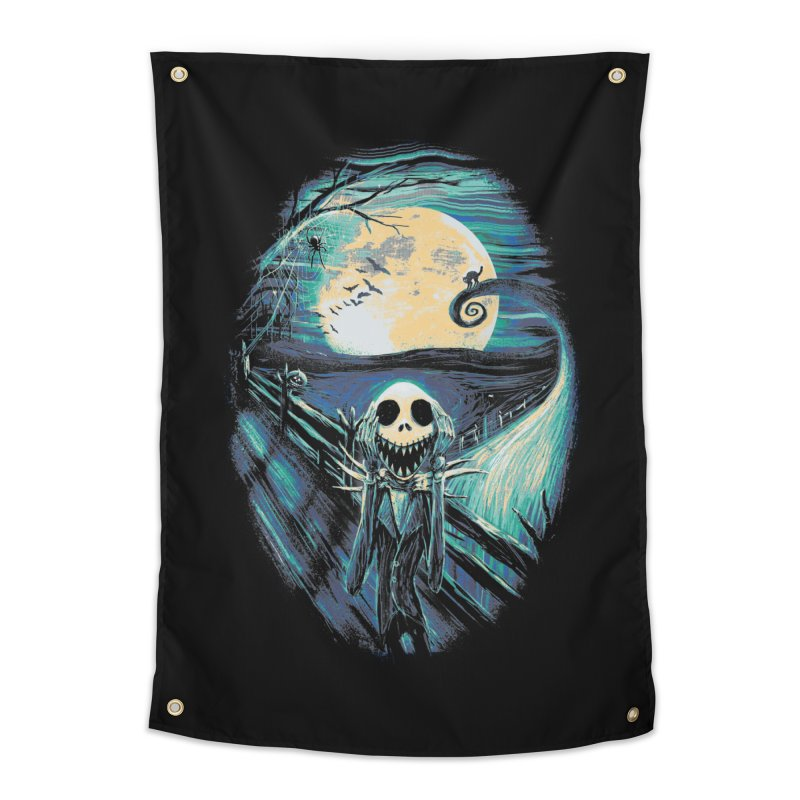 The Scream Before Christmas Home Tapestry by nicebleed