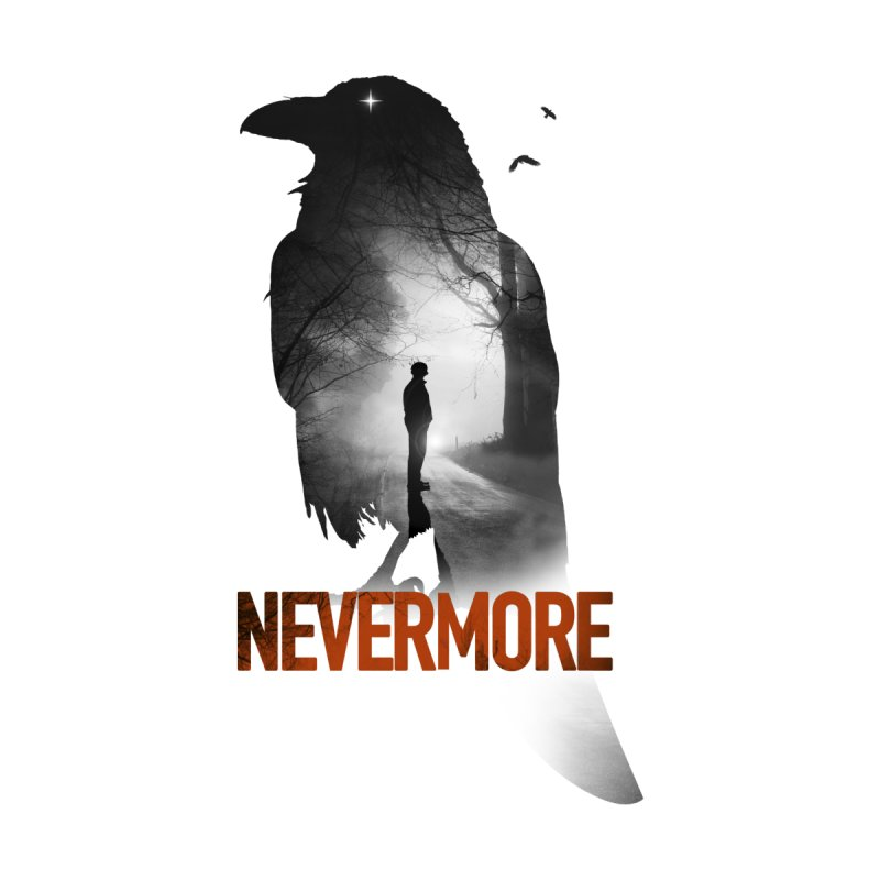 Nevermore Men's T-Shirt by nicebleed