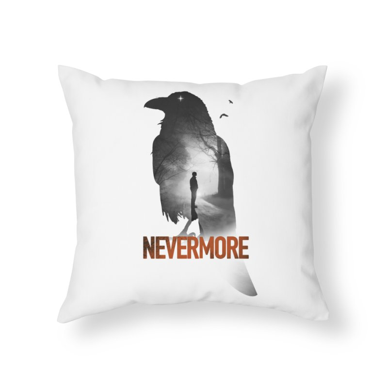 Nevermore Home Throw Pillow by nicebleed