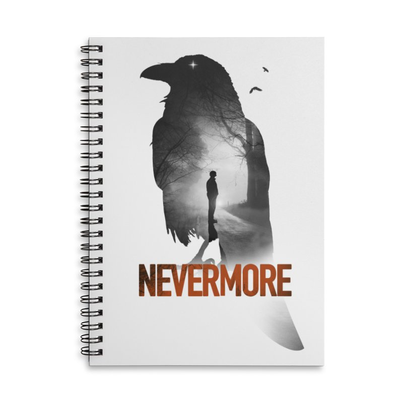 Nevermore Accessories Lined Spiral Notebook by nicebleed