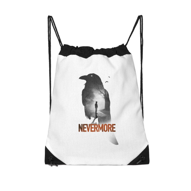 Nevermore Accessories Drawstring Bag Bag by nicebleed