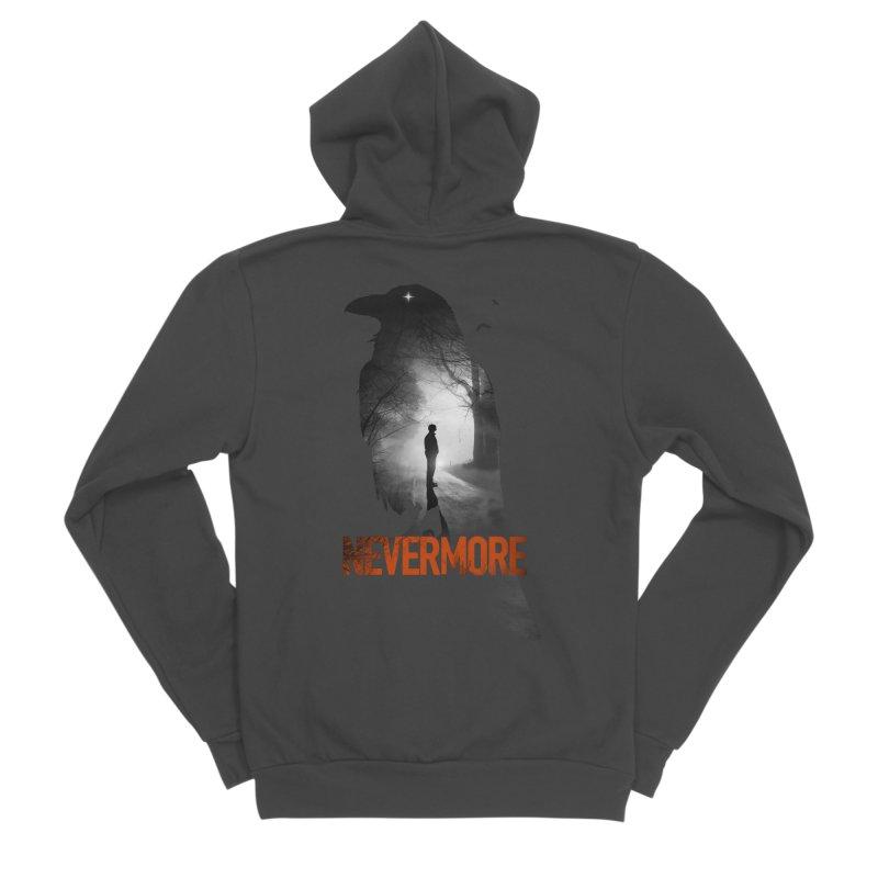 Nevermore Men's Sponge Fleece Zip-Up Hoody by nicebleed