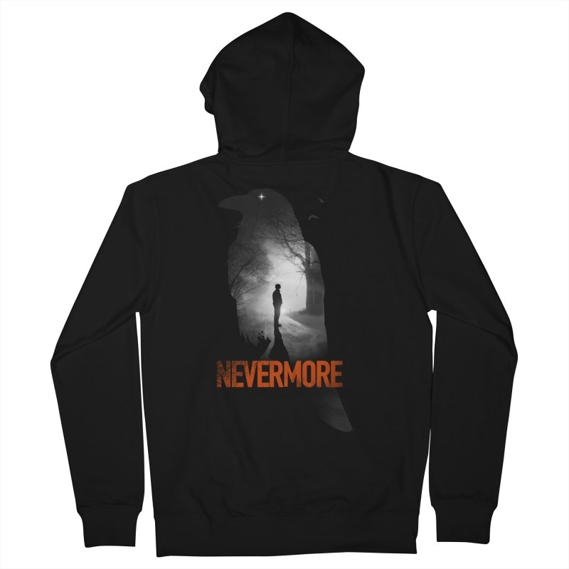 Nevermore Women's French Terry Zip-Up Hoody by nicebleed