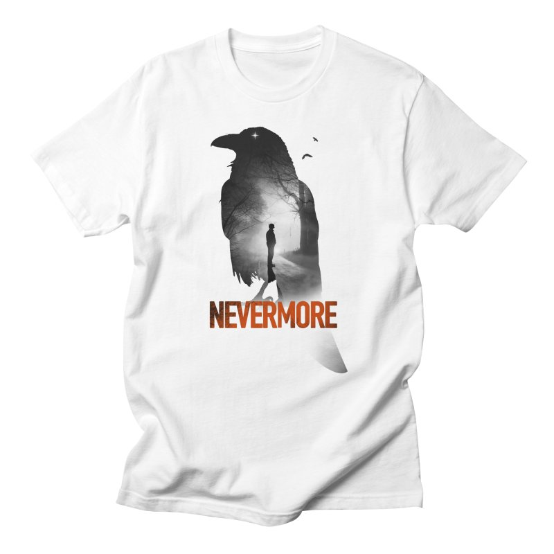 Nevermore in Men's Regular T-Shirt White by nicebleed