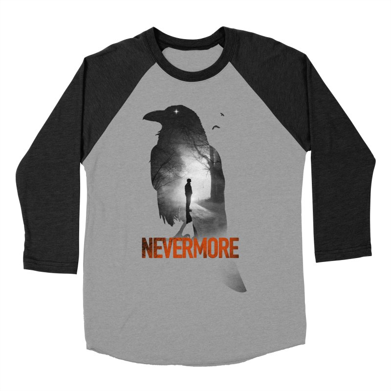 Nevermore Women's Baseball Triblend Longsleeve T-Shirt by nicebleed