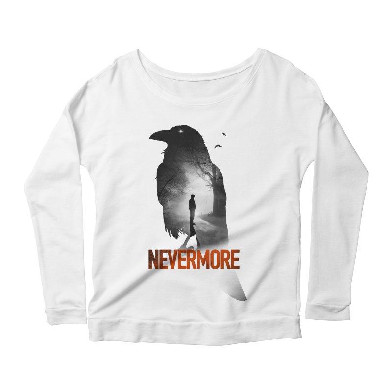 Nevermore Women's Scoop Neck Longsleeve T-Shirt by nicebleed