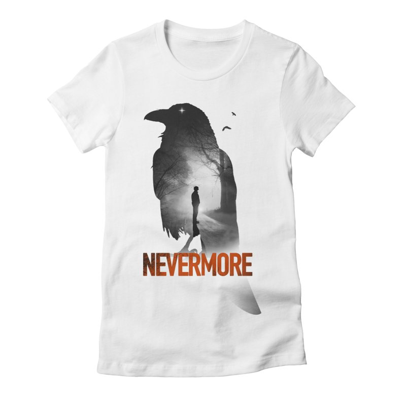 Nevermore Women's Fitted T-Shirt by nicebleed