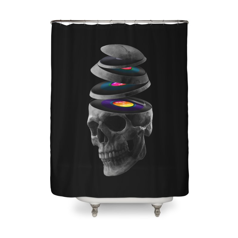 Dead Records Home Shower Curtain by nicebleed