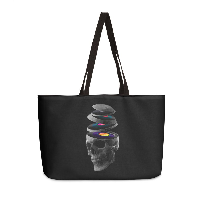Dead Records Accessories Weekender Bag Bag by nicebleed