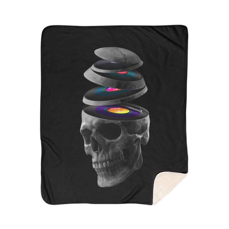 Dead Records Home Sherpa Blanket Blanket by nicebleed