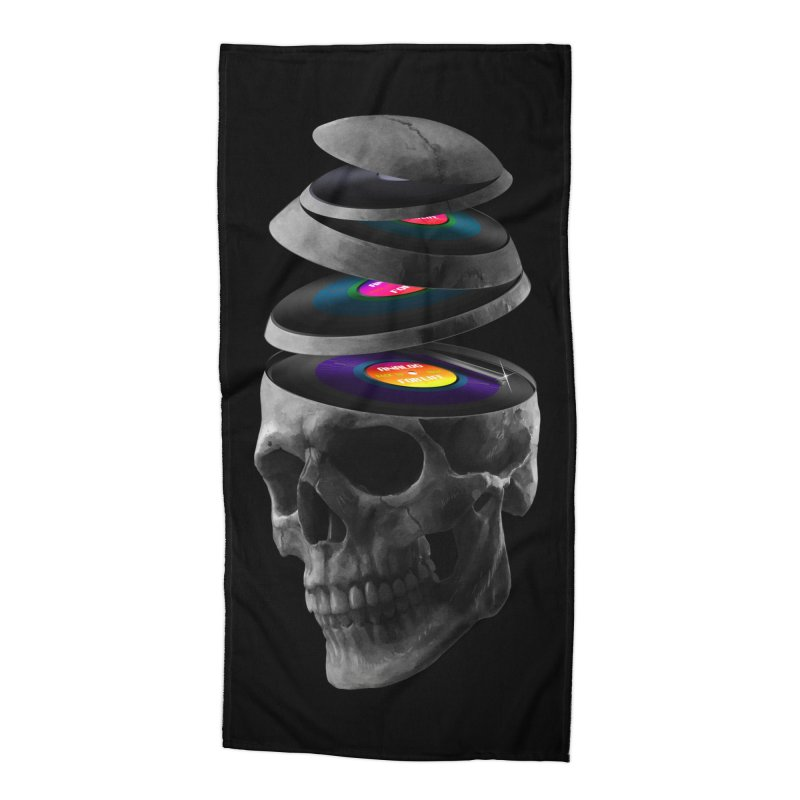 Dead Records Accessories Beach Towel by nicebleed