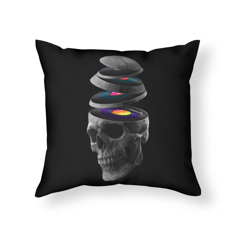 Dead Records Home Throw Pillow by nicebleed