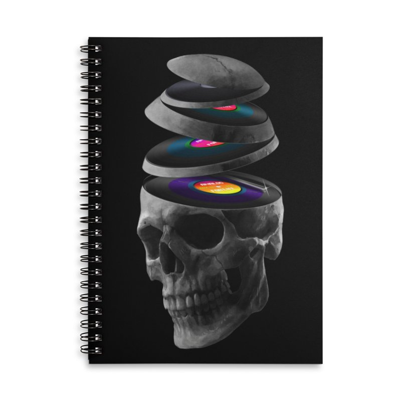 Dead Records Accessories Lined Spiral Notebook by nicebleed