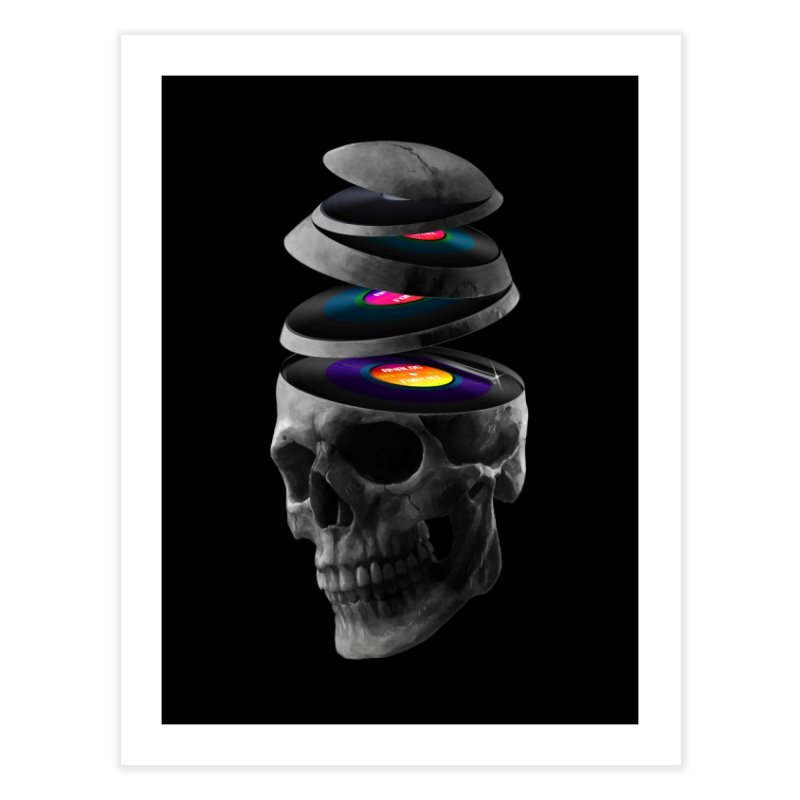 Dead Records Home Fine Art Print by nicebleed