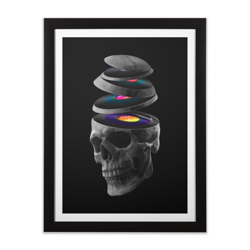 Dead Records in Framed Fine Art Print Black by nicebleed