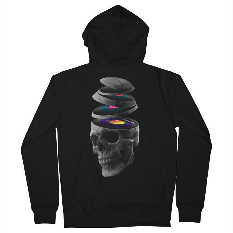 Dead Records Women's French Terry Zip-Up Hoody by nicebleed