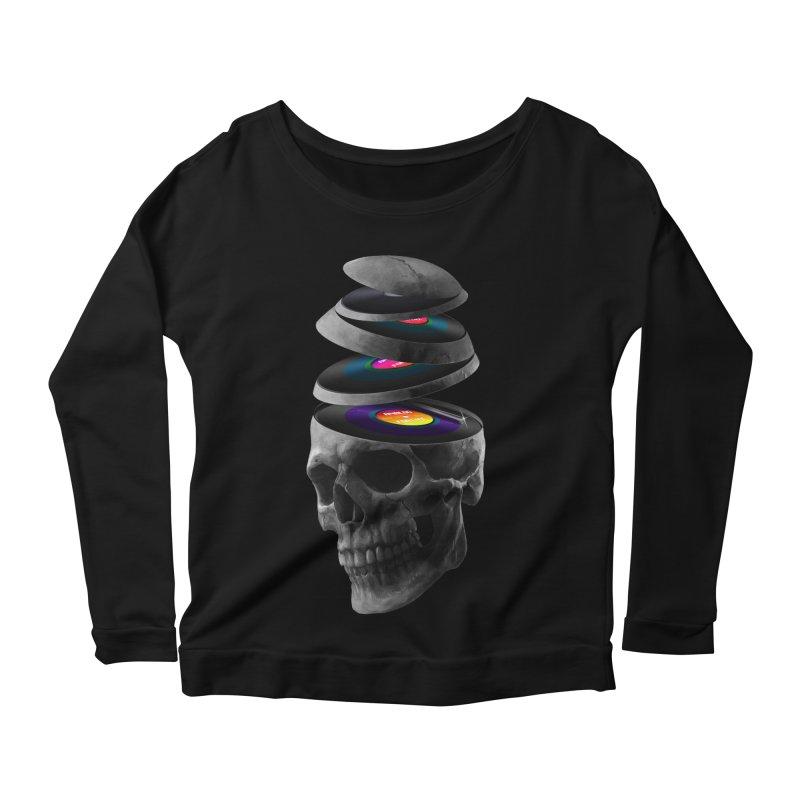 Dead Records Women's Scoop Neck Longsleeve T-Shirt by nicebleed