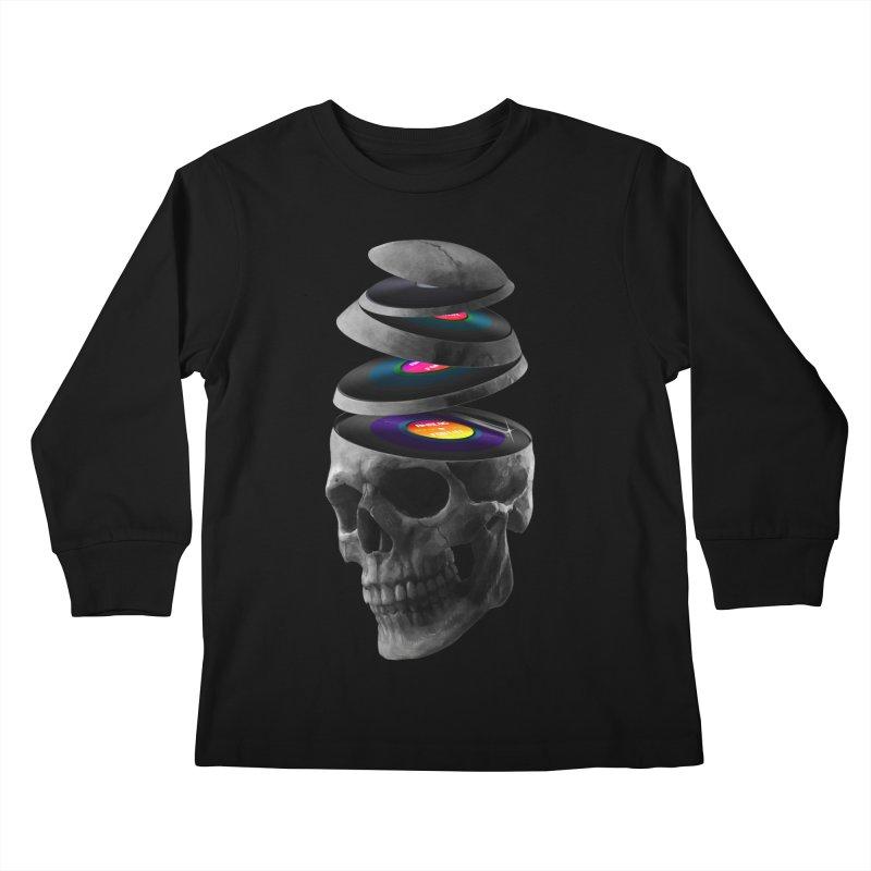 Dead Records Kids Longsleeve T-Shirt by nicebleed