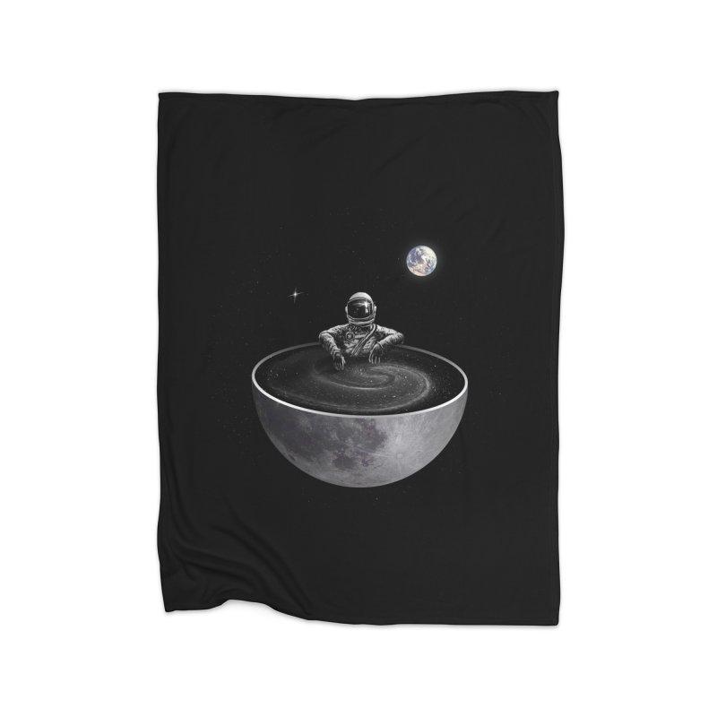 Easy (Moon Version) Home Fleece Blanket Blanket by nicebleed