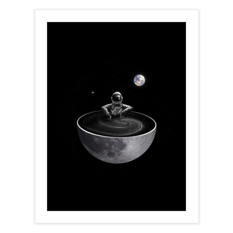 Easy (Moon Version) Home Fine Art Print by nicebleed