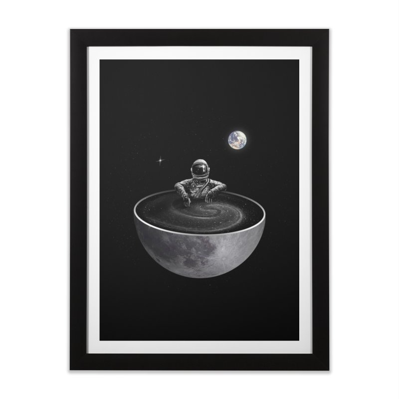 Easy (Moon Version) Home Framed Fine Art Print by nicebleed
