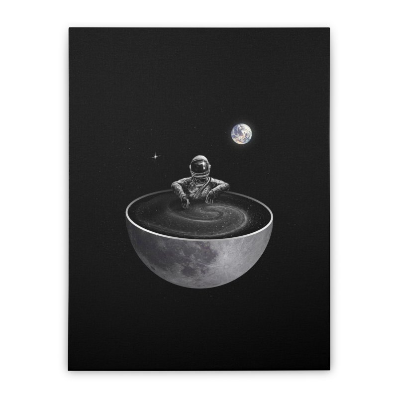 Easy (Moon Version) Home Stretched Canvas by nicebleed