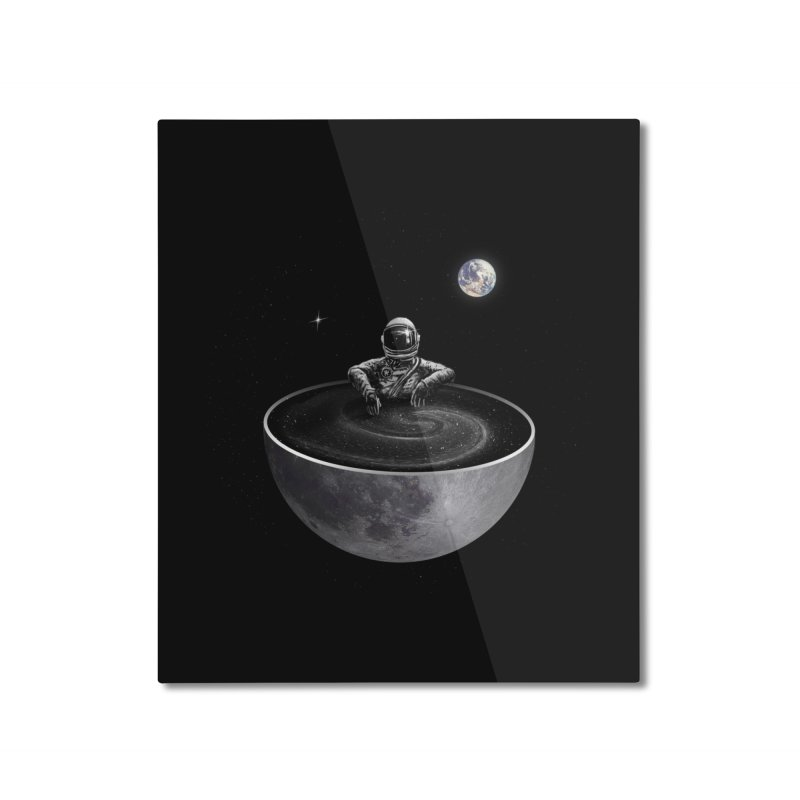 Easy (Moon Version) Home Mounted Aluminum Print by nicebleed