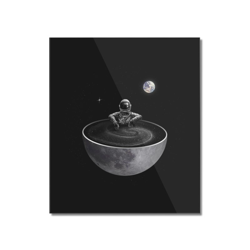 Easy (Moon Version) Home Mounted Acrylic Print by nicebleed