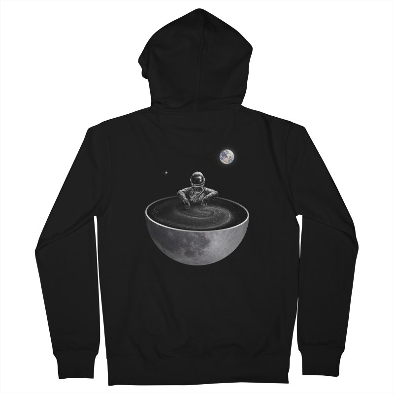 Easy (Moon Version) Women's French Terry Zip-Up Hoody by nicebleed