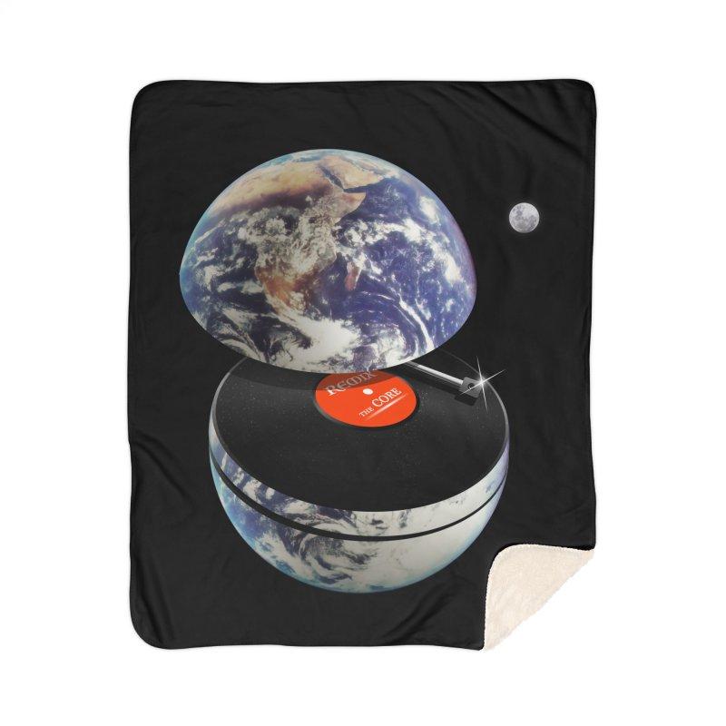 DJ Earth Home Sherpa Blanket Blanket by nicebleed