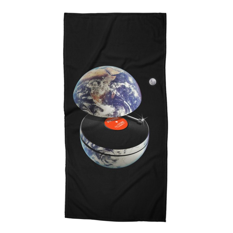 DJ Earth Accessories Beach Towel by nicebleed