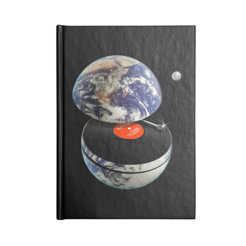DJ Earth Accessories Blank Journal Notebook by nicebleed