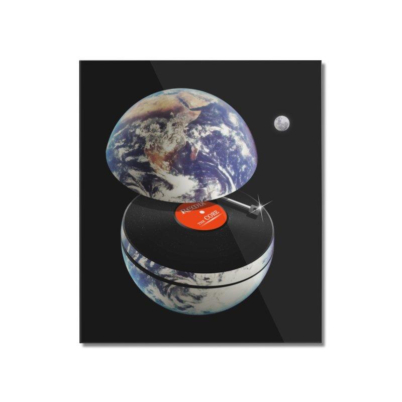 DJ Earth Home Mounted Acrylic Print by nicebleed