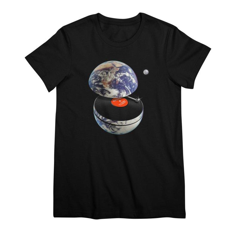 DJ Earth Women's Premium T-Shirt by nicebleed