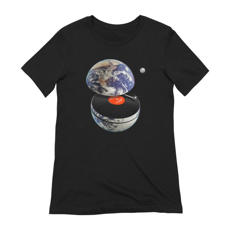 DJ Earth Women's Extra Soft T-Shirt by nicebleed
