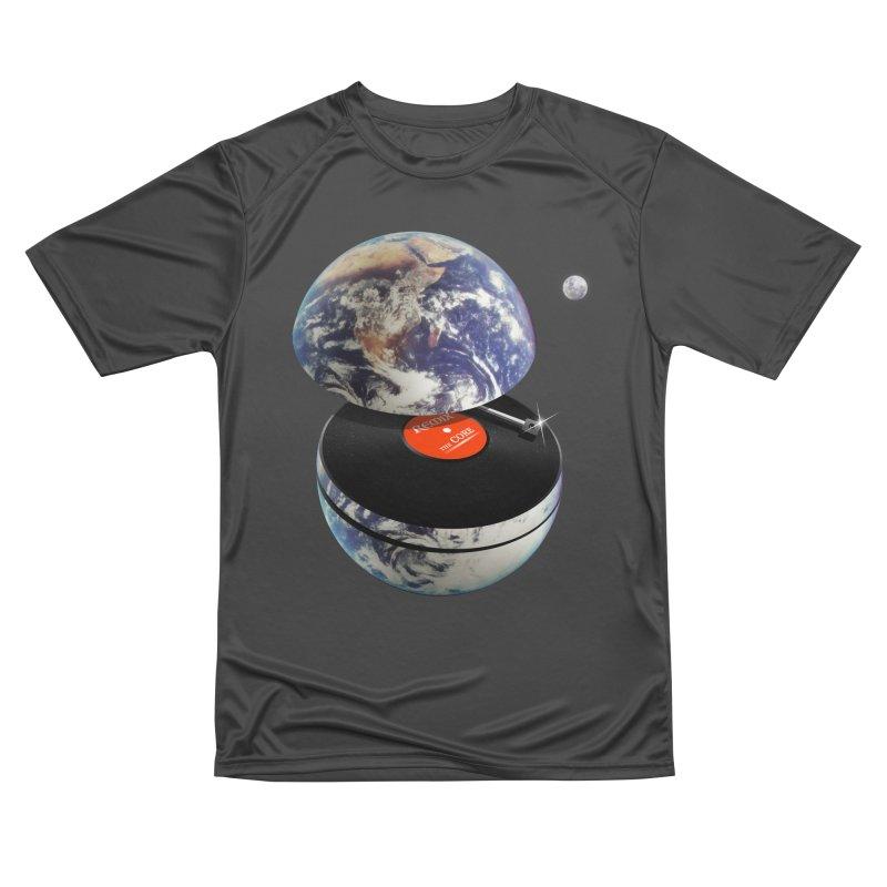 DJ Earth Men's Performance T-Shirt by nicebleed