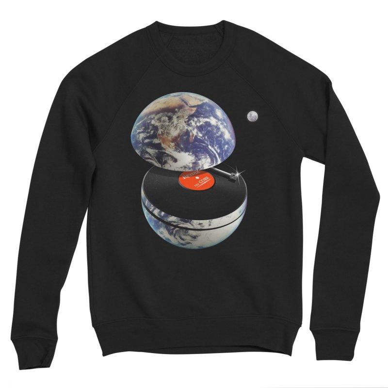 DJ Earth Men's Sponge Fleece Sweatshirt by nicebleed