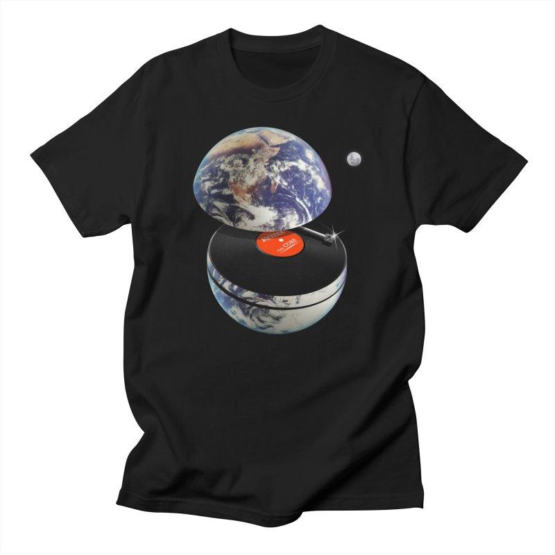 DJ Earth Men's Regular T-Shirt by nicebleed