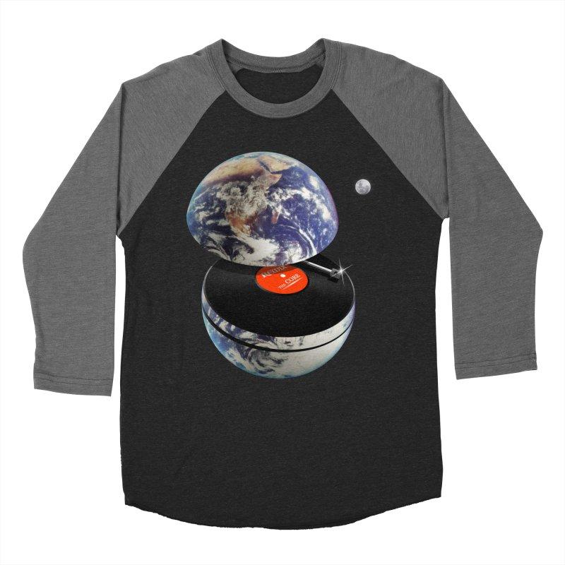DJ Earth Men's Baseball Triblend Longsleeve T-Shirt by nicebleed