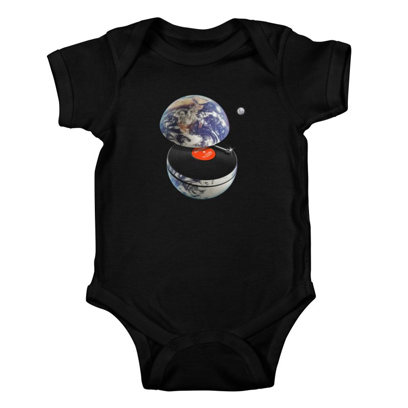 DJ Earth Kids Baby Bodysuit by nicebleed