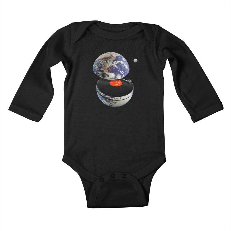 DJ Earth Kids Baby Longsleeve Bodysuit by nicebleed