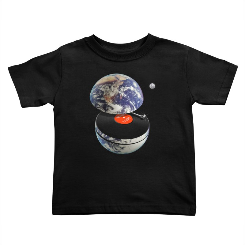 DJ Earth Kids Toddler T-Shirt by nicebleed