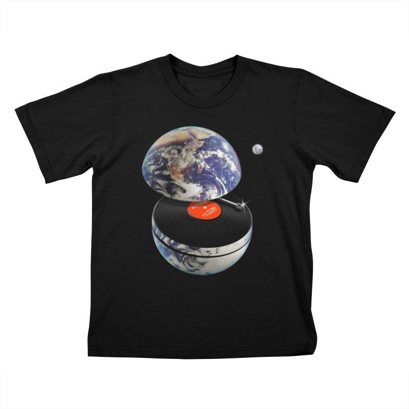 DJ Earth Kids T-Shirt by nicebleed