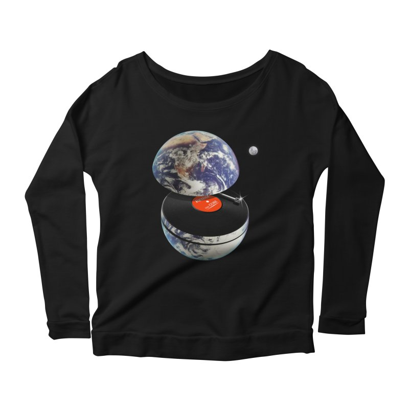 DJ Earth Women's Scoop Neck Longsleeve T-Shirt by nicebleed