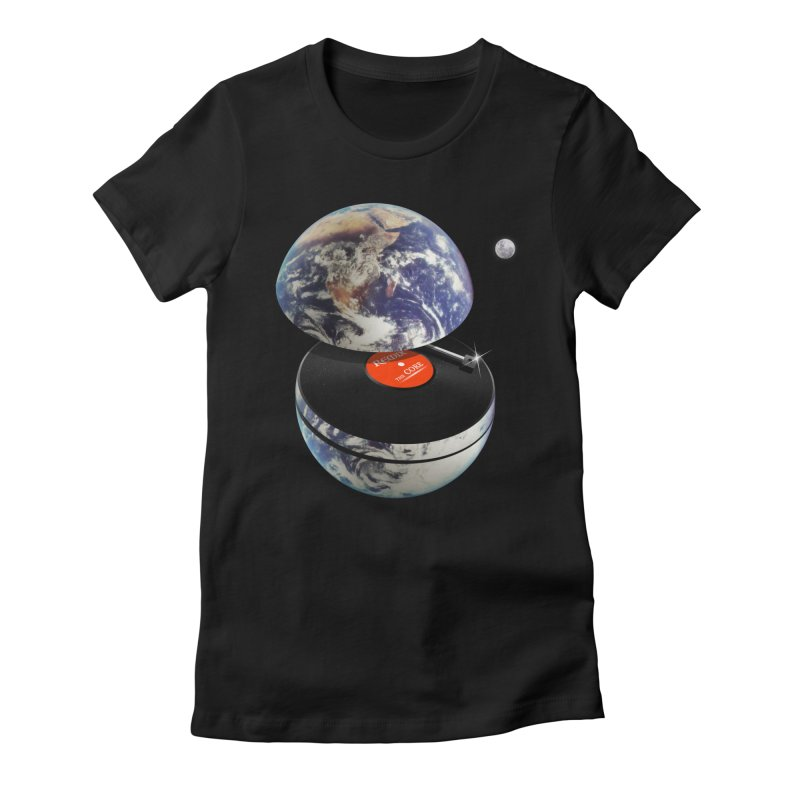 DJ Earth Women's Fitted T-Shirt by nicebleed