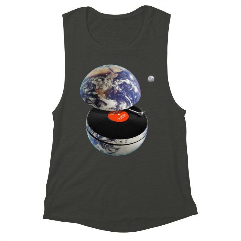 DJ Earth Women's Muscle Tank by nicebleed