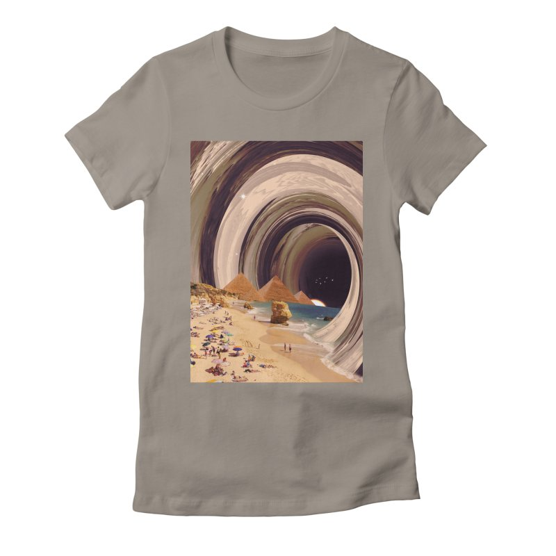 Tunnel Women's Fitted T-Shirt by nicebleed