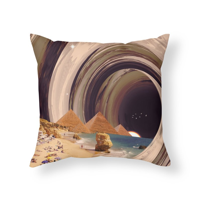 Tunnel Home Throw Pillow by nicebleed