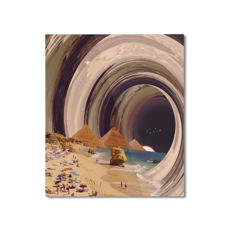 Tunnel Home Mounted Aluminum Print by nicebleed